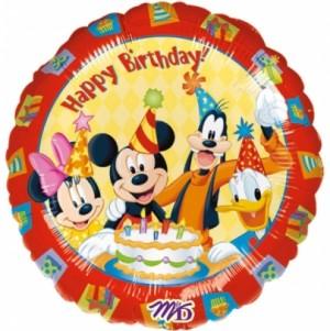 Balão Aniversário Mickey e Amigos 43cm