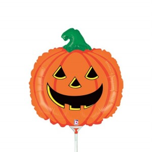 Balão Foil Mini Abobora Halloween 35Cm
