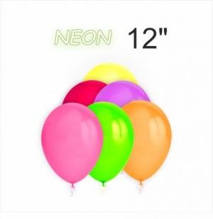 """100 Balões Neon 12"""""""