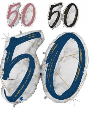 Balão Numero 50 Marmore Grabo de 104cm