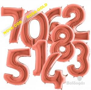 Balões Números Gigantes Rosa Gold