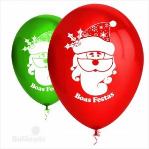 50 Balões Boas Festas Latex 32cm