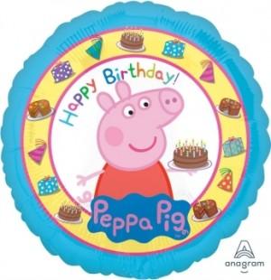 Balão Peppa Pig Aniversário 43cm