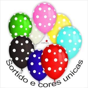 10 Balões com Pintas (11 cores Disponiveis)