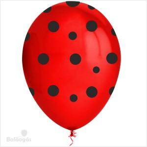 10 Balões com Pintas Pretas