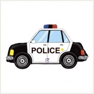 Balão Carro Policia 86cm >Grabo