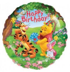 Balão Foil Redondo Winnie Pooh 43cm R08323