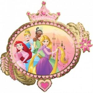 Balão Princesas Moldura Coroa 86x81cm