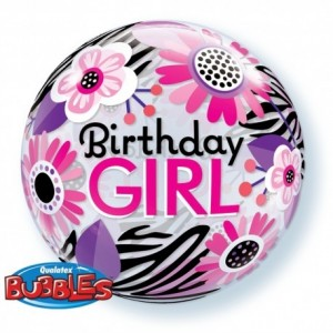 "Bubble Birthday Girl 22""56cm"