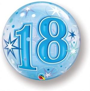 """Bubble 18 Anos Azul 22""""56cm"""