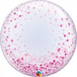 """Bubble Confetis Rosa 24""""61cm"""