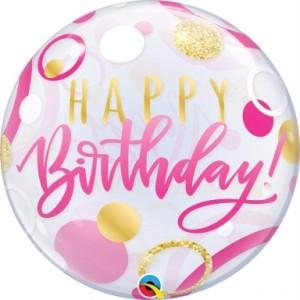 """Bubble Happy Birthday Circulos 22""""56cm"""