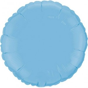 Redondo Foil 45cm Azul Bebé