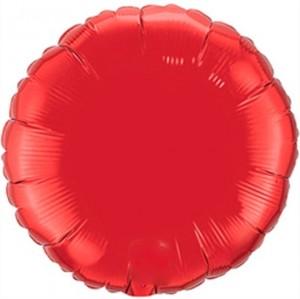 Redondo Foil 45cm Vermelho