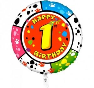 Balão 1º Aniversário redondo 53Cm