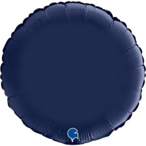 Balão Redondo Cetim 46cm Azul Marinho
