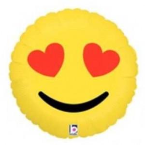 Balão Emoji Coração 46cm