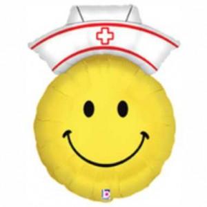 Balão Smiley Enfermeira 71cm