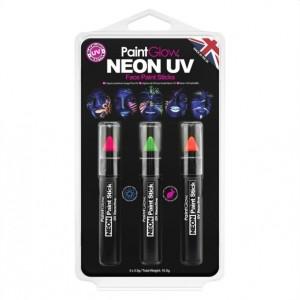 Kit 3 Lápis Neon UV Facial