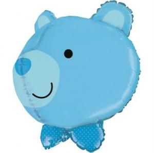Balão Urso Azul 3D 69cm