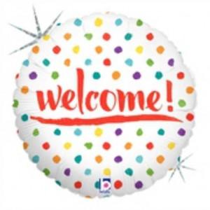 Balão Foil Welcome Holographic 46Cm Grabo