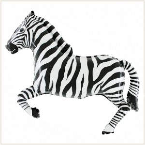 Balão Zebra 90cm Grabo
